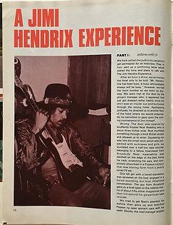 jimi hendrix magazine/discoscene & wapescene april 1968