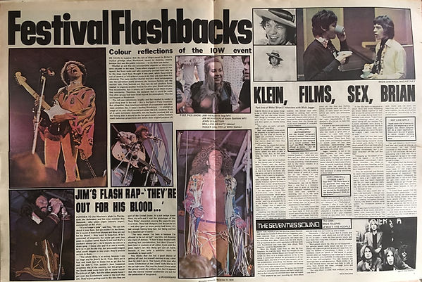 jimi hendrix newspaper 1970 / record mirror : september 12, 1970