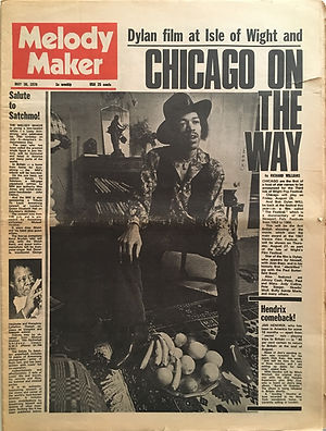 jimi hendrix newspapers 1970 / melody maker may 31, 1970