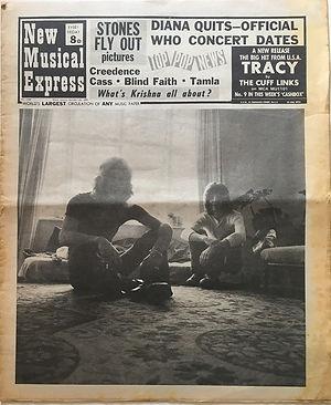 jimi hendrix newspaers 1969/new musical express october 25 1969