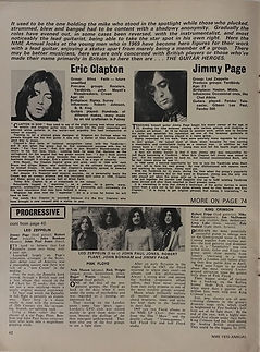jimi hendrix magazines 1970 / new musical express  1970 annual