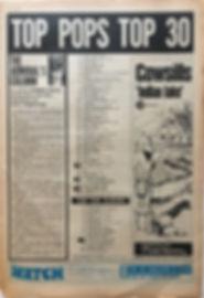 jimi hendrix newspaper/top ten albums/smash hits N°4/top pops 29/6/68