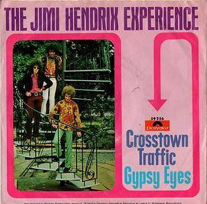 jimi hendrix collector vinyls singles 45t/crosstown traffic/gypsy eyes polydor scandinavia/norway.. 1968