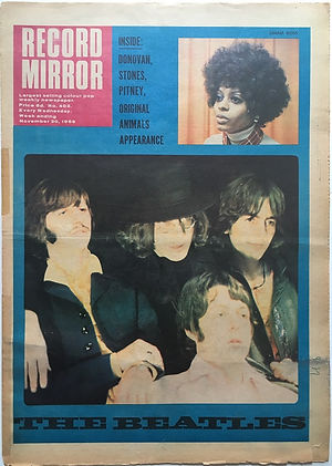 jii hendrix newspaper 1968 / record mirror november 30 1968