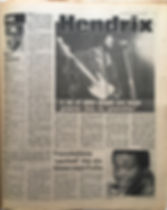 jimi hendrix newspaper1969/disc music echo march 22 1969