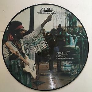 jii hendrix vinyls bootlegs lp/peace,mud & tears picture disc