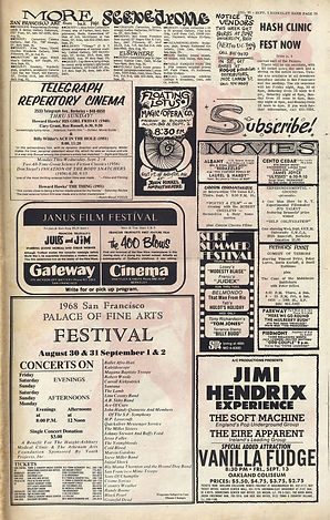 jimi hendrix newspaper/berkeley barb august 30 1968