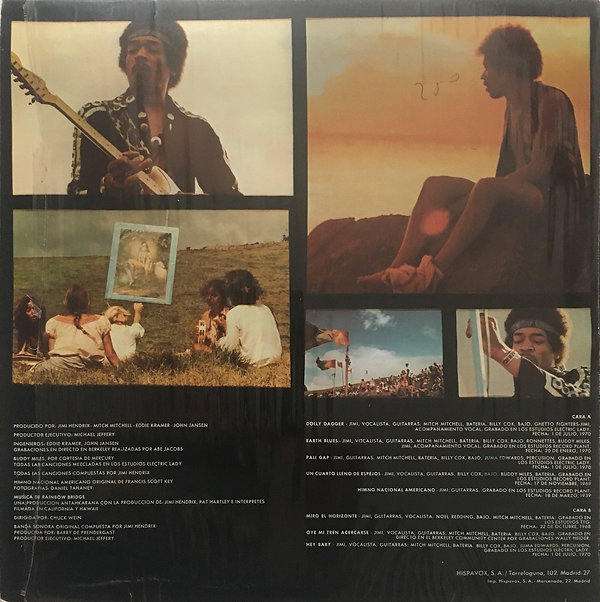 jimi hendrix vinyls album/rainbow bridge 1971 spanish