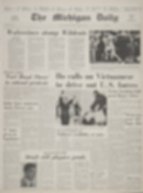 jimi hendrix newspapers 1968/ the michigan daily november 3, 1968
