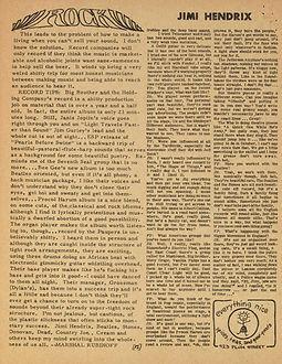 jimi hendix newspaper/warren forest sun september 1967 part 2