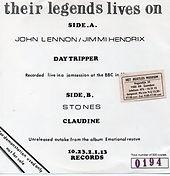 jimi hendrix single bootlegs / day tripper
