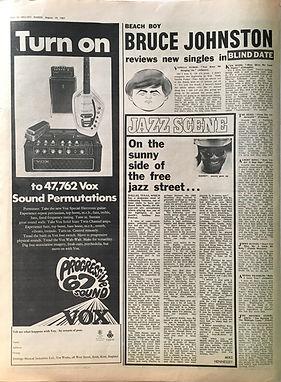 jimi hendrix collector newspaper/melody maker 19/8/67 burning f the midnight lamp rewiew