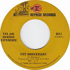 jimi hendrix collector singles vinyls 45r/51st anniversary  2nd edition 1969 usa