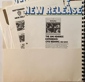jimi hendrix memorabilia collector/press kit reprise records september 1970