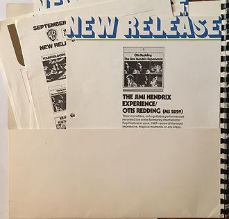 jimi hendrix memorabilia collector/press kit reprise records september 1970