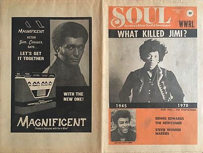 jimi hendrix newspapers 1970 / soul november 2,  1970 / what killed jimi ? poster