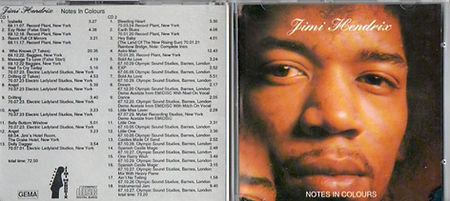 jimi hendrix collector bootlegs cds 1969/ notes in colours 2 cd