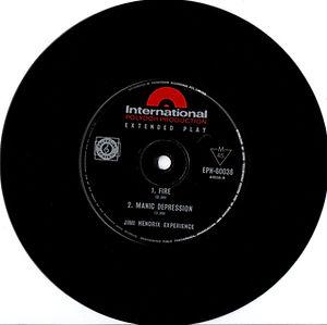 jimi hendix vinyls singles ep australia / fire manic depression
