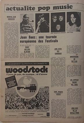 jimi hendrix newspapers 1970 / pop music june 18, 1970