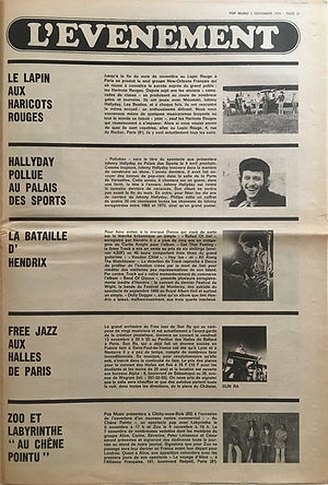jimi hendrix newspapers 1970 / pop music november 5,  1970