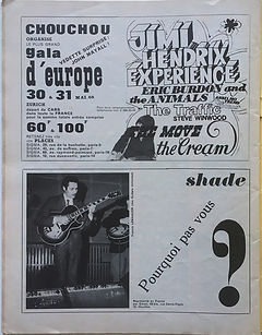 jimi hendrix magazines 1968/ rock & folk may 1968