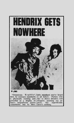 jimi hendrix newspaper 1969 /  go set feb. 12,  1969