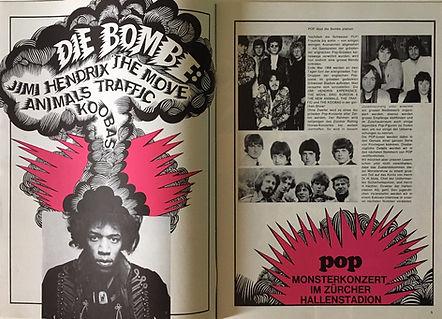 jimi hendrix collector magazine/pop magazine november 1967