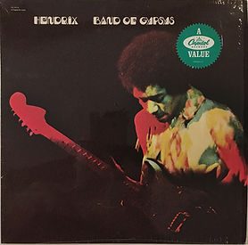 jimi hendrix collector vinyls LP/albums/band of gypsys usa reissue 1988 capitol records