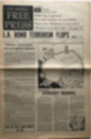 free press los angeles october 25-31 1968 / jimi hendix newspaper 1968