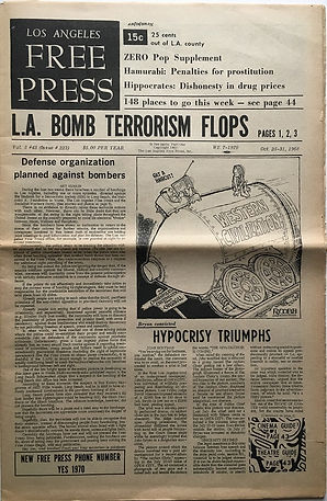 free press los angeles october 25-31 1968 / jimi hendix newspaper 1968