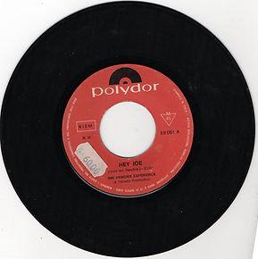 jimi hendrix rotily patrick vinyls/ hey joe