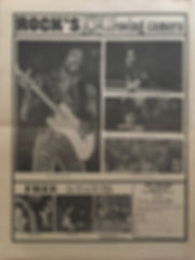 jimi hendrix newspapers 1970 /rock : jan.5, 1970 /  rock's roving camera