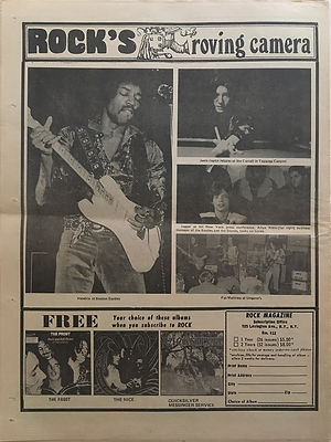 jimi hendrix newspapers 1970 /rock : jan.5, 1970 /  rock's roving camera