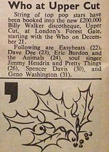 jimi hendrx newspaper/disc music echo 17/12/66