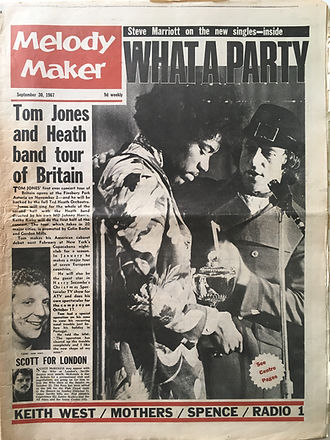 jimi hendrix collector newspapers/melody maker 30/9/1967  what a party!