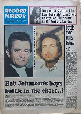 jimi hendrix newspper 1969/record mirror october 4, 1969