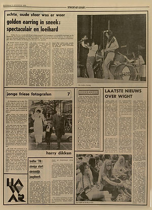 jimi hendrix newspaper 1970 / leeuwarder courant / august 8, 1970 / article : isle of wight festival