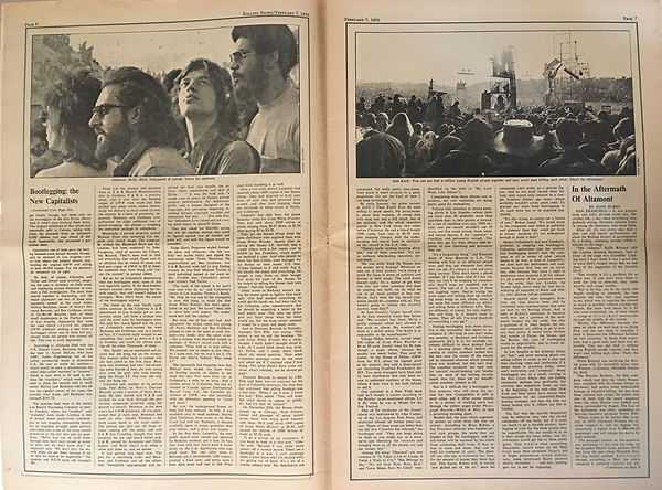 jimi hendrix newspaper 1970 / rolling stone feb.7 1970