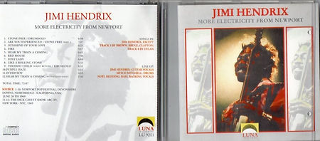 jimi hendrix cd bootlegs 1969/electricity from newport