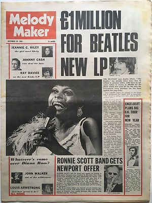 jimi hendrix newspaper 1968/ melody maker november 30 1968