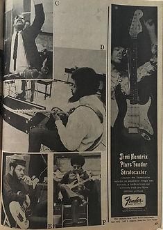 jimi hendrix magazines 1969/hit parader november 1969 ad:fender