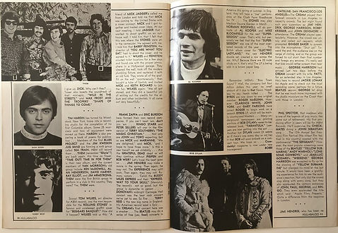jimi hendrix magazine 1969/ hullabaloo feb 1969