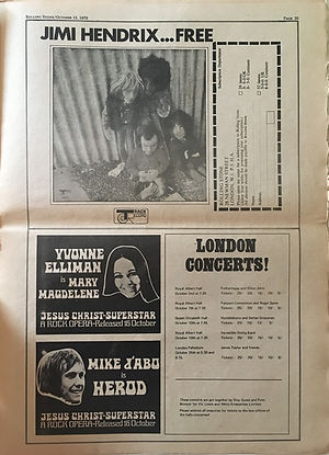 jimi hendrix newspapers 1970 / rolling stone :  october 15  1970