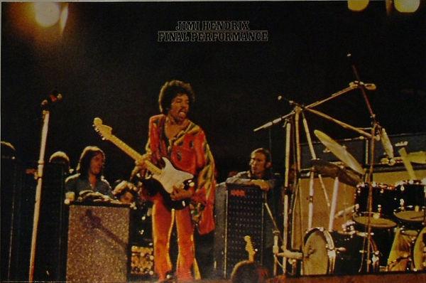 jimi hendrix posters/final performance 1972 holland
