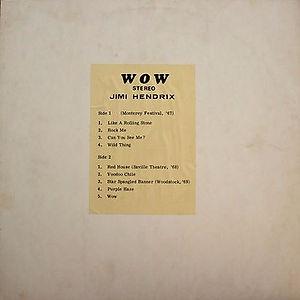 jimi hendrix vinyls bootlegs/wow 1972