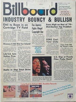 jimi hendrix magazines 1970 / billboard sept. 5, 1970