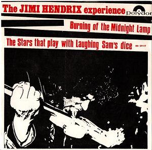 jimi hendrix rotily singles/burning of the nidnight lamp