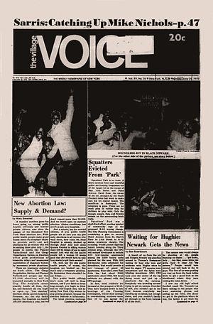 jimi hendrix newspapers 1970 / the village voice june 25, 1970