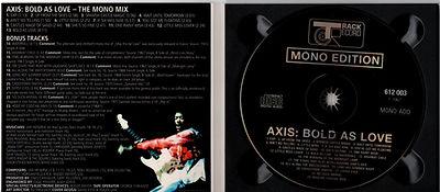 jimi hendrix collector bootlegs cd/axis bold as love + bonus tracks  2001