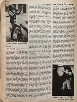 jim hendrix collector magazine/newsweek 9/10/1967